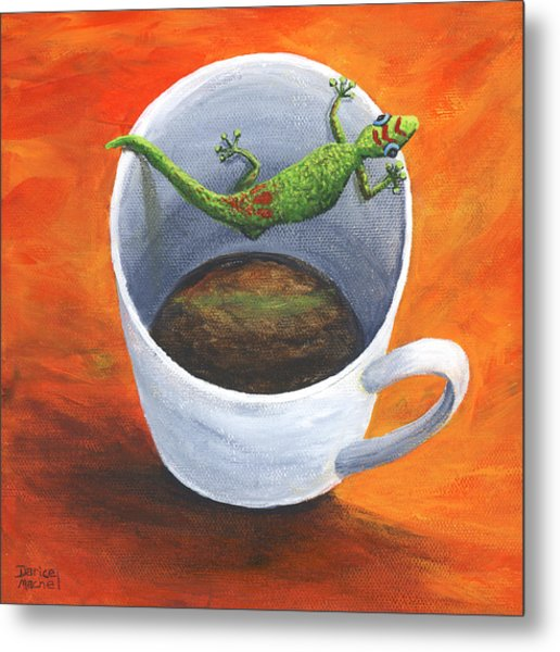 Metal Print featuring the painting Coffee With A Friend by Darice Machel McGuire