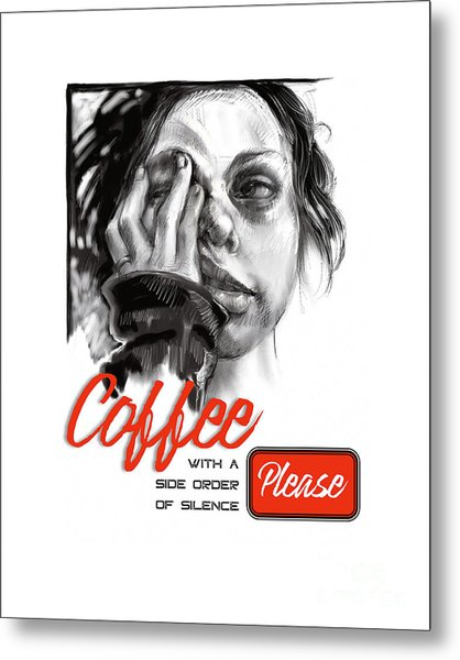 Coffee With A Side Metal Print