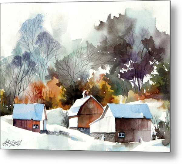 Cold Barns Metal Print by Art Scholz