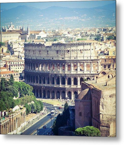 Coliseum In Rome Metal Print
