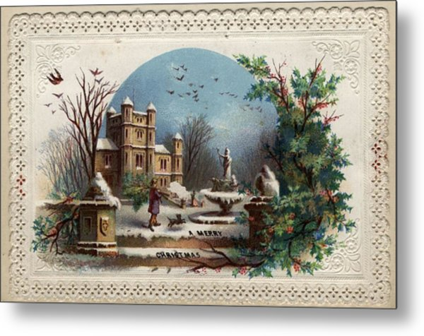 Collecting Holly Metal Print by Hulton Archive