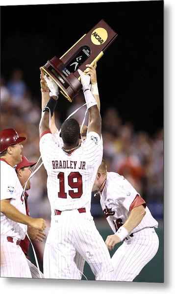 College World Series - Game Two Metal Print