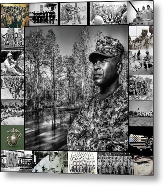Colonel Trimble Collage Metal Print