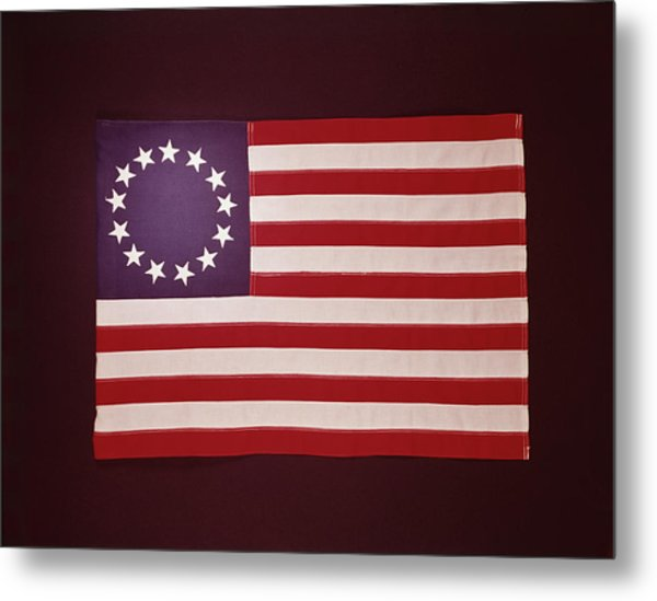 Colonial Us Flag Metal Print by H. Armstrong Roberts