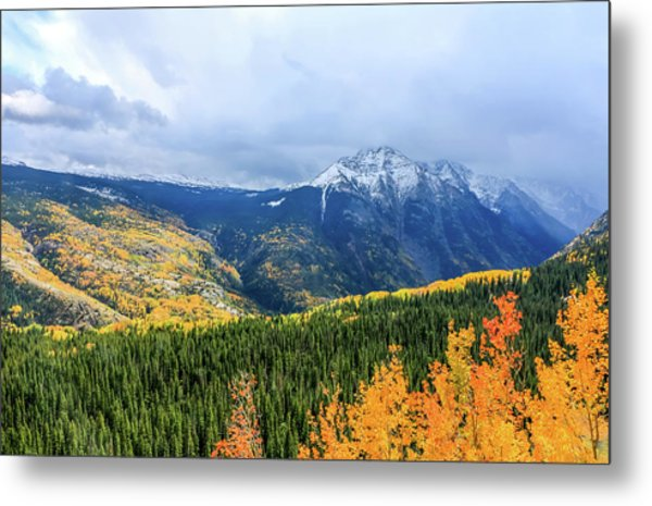 Metal Print featuring the photograph Colorado Aspens And Mountains 3 by Dawn Richards