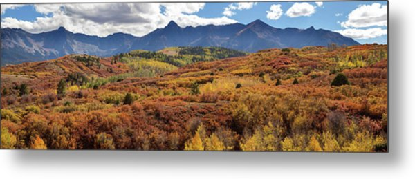 Colorado Autumn Panorama Colorful Bliss Metal Print by James BO Insogna