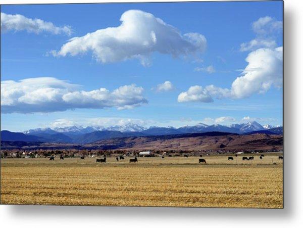 Colorado Ranch In Rocky Mountains Metal Print