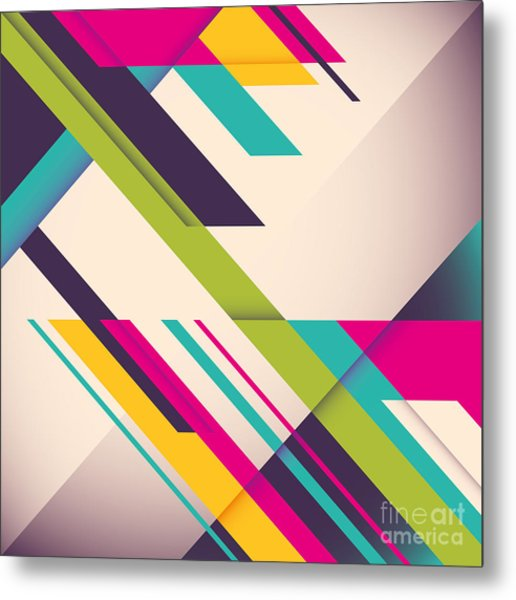 Colorful Background With Designed Metal Print