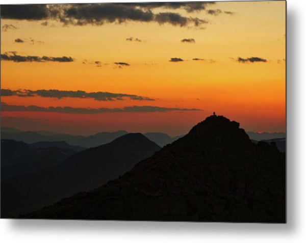 Evening At Mount Evans Metal Print