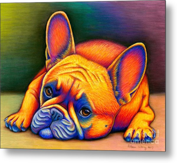 Daydreamer - Colorful French Bulldog Metal Print