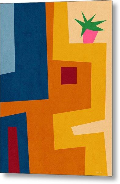 Colorful Geometric House 3- Art By Linda Woods Metal Print