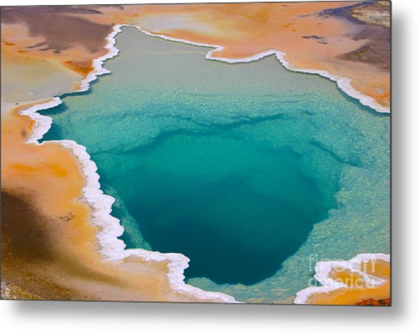 Colorful Geyser In Yellowstone National Metal Print