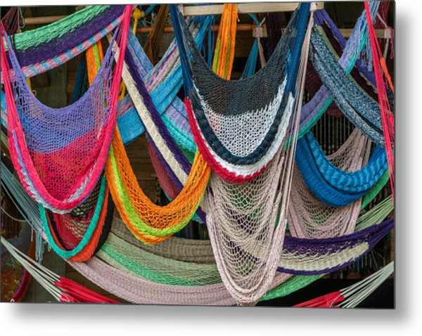 Colorful Hammocks Metal Print by Philippe Marion