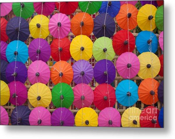 Colorful Handmade Umbrellas Bo Sang Metal Print