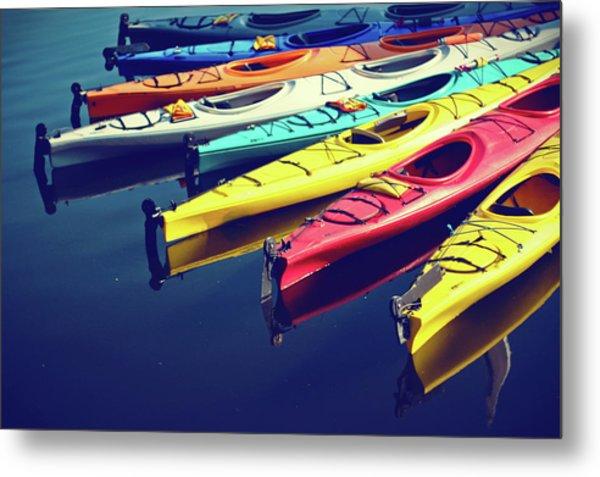 Colorful Kayaks Metal Print by Kyle Igarashi