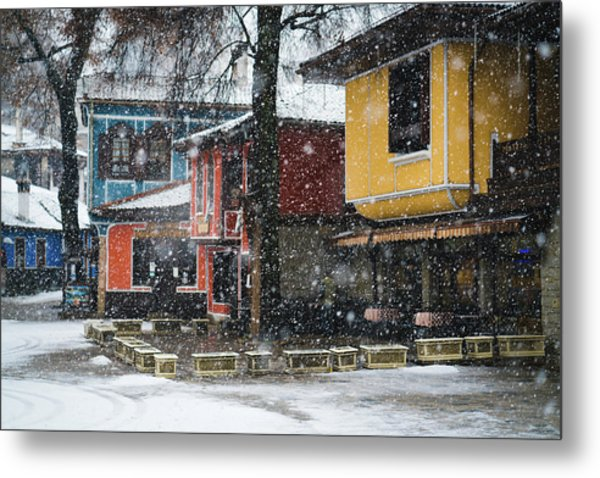 Colorful Koprivshtica Houses In Winter Metal Print