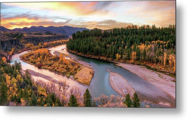Colorful River Sunrise Metal Print