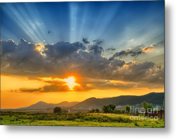 Colorful Sunset In The Summer Metal Print
