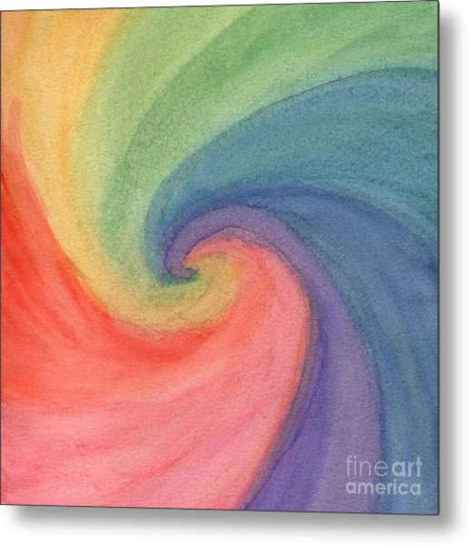 Colorful Wave Metal Print