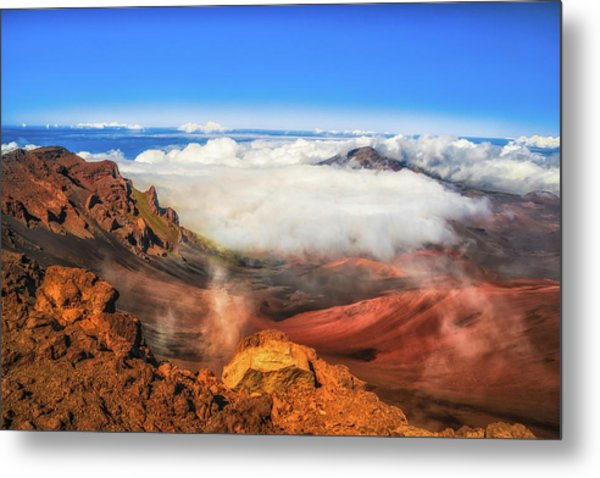 Colors And Clouds Metal Print by Fernando Margolles