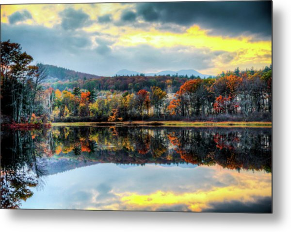 Colors In Fall Metal Print by Joe Martin A New Hampshire Portrait Photographer