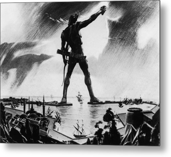 Colossus Of Rhodes Metal Print by Three Lions