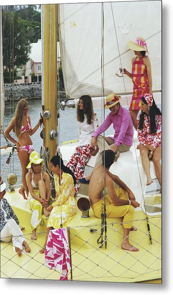 Colourful Crew Metal Print by Slim Aarons