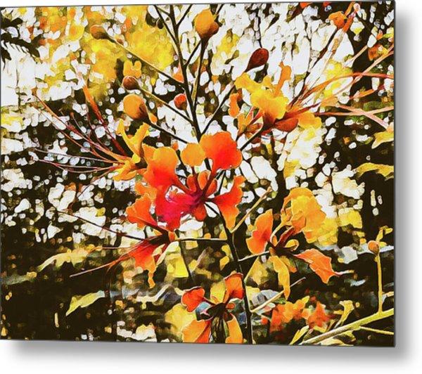 Colourful Leaves Metal Print