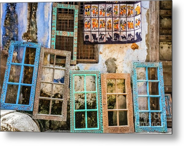 Colorful Window Frames Metal Print