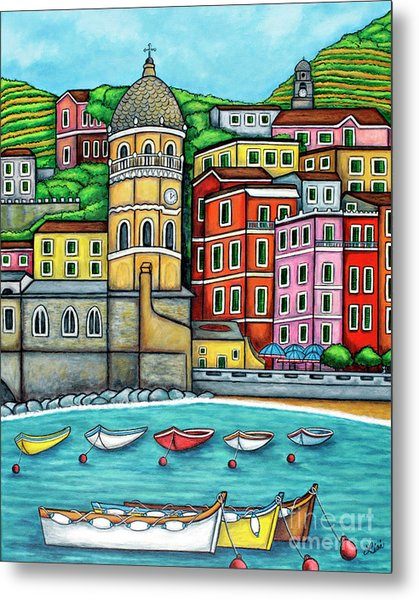 Colours Of Vernazza Metal Print