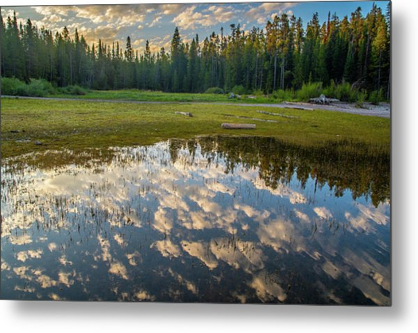 Colter Bay Reflections Metal Print