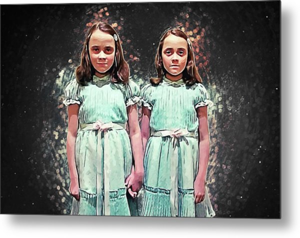 Come Play With Us - The Shining Twins Metal Print