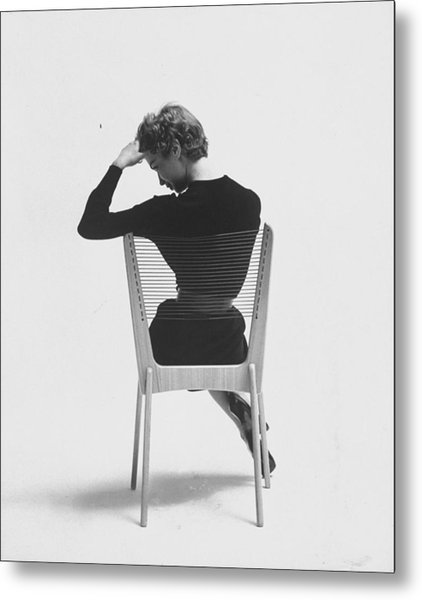 Comfort Of Chair Comes From Fact That Is Metal Print by Yale Joel