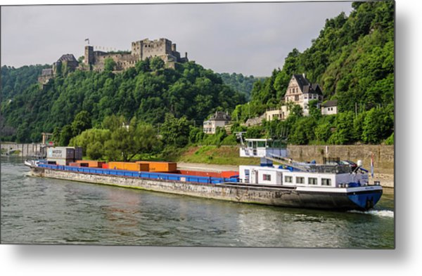 Commerce Along The Rhine Metal Print
