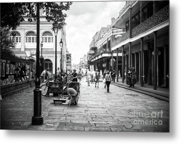 Concentration In New Orleans Metal Print by John Rizzuto