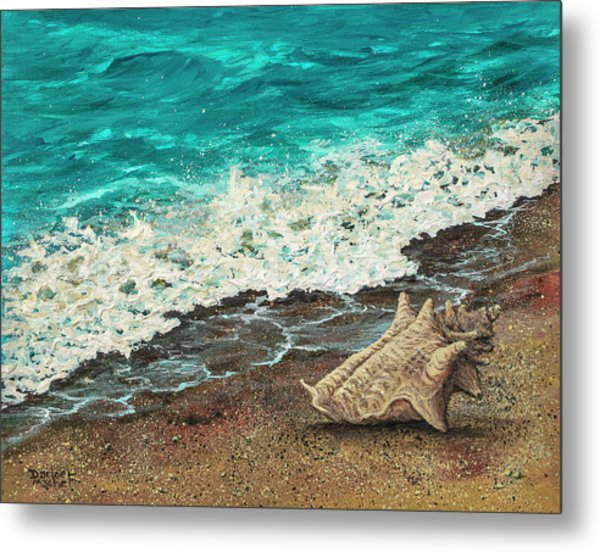 Metal Print featuring the painting Conch Shell by Darice Machel McGuire