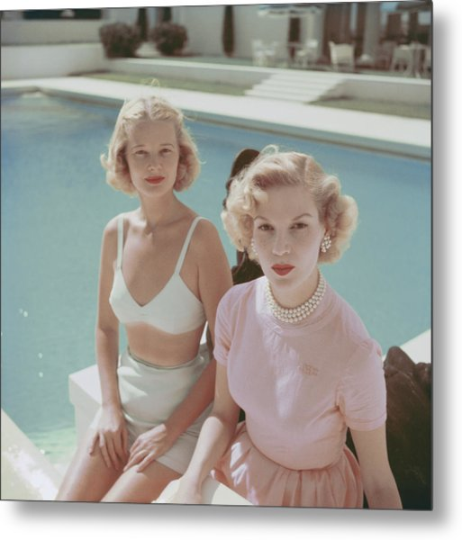 Connelly And Guest Metal Print by Slim Aarons