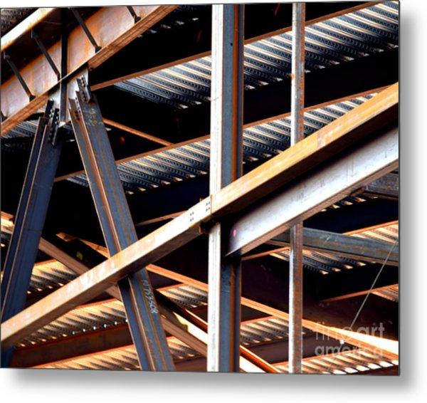 Construction Abstract Fragments Metal Print