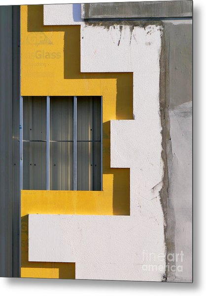 Construction Abstract Metal Print
