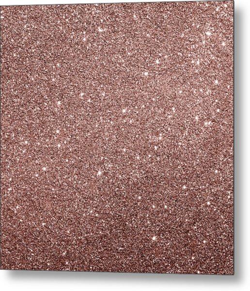 Cooper Glitter Metal Print