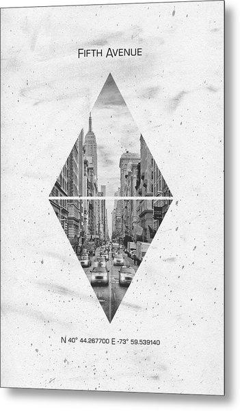 Coordinates New York City Fifth Avenue Metal Print