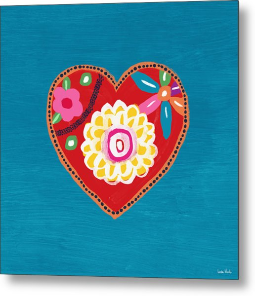 Corazon 3- Art By Linda Woods Metal Print
