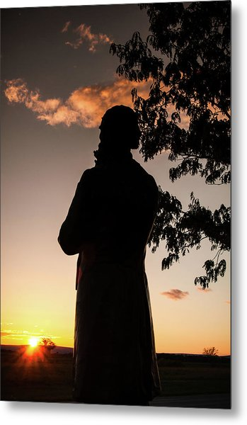 Corby At Sunset Metal Print
