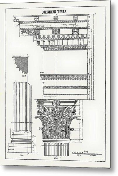 Corinthian Architecture Metal Print