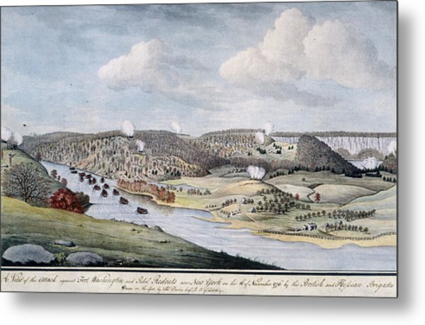 Cornwallis Attack On Fort Lee Metal Print by Fotosearch