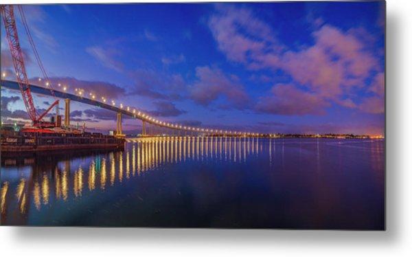 Coronado Bridge Sunrise - Panorama Metal Print