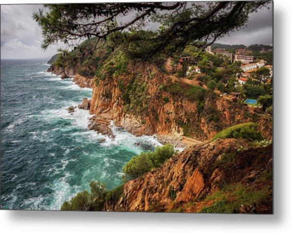 Costa Brava Wild Coast In Tossa De Mar In Spain Metal Print