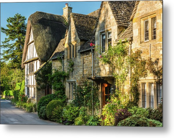 Cotswold Cottages, Stanton, Gloucestershire Metal Print by David Ross