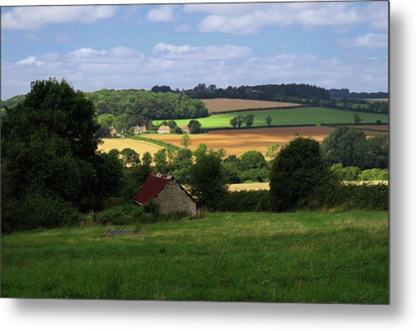 Cotswold Field England 81601 Metal Print