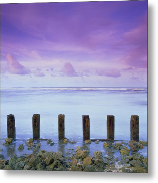 Cotton Candy Skies Over The Sea Metal Print
